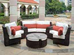 Curved Patio Sofa Living Room Outdoor Furniture Sofa New Fiji Curved Outdoor Resin