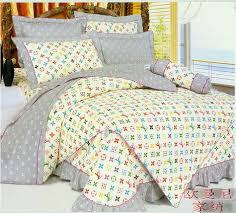 Louis Vuitton Bed Set Ems Selling Bed Set Bedding Sheet Bedspread Set Grey Leopard