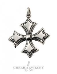 orthodox crosses byzantine crosses silver cross pattée pendant
