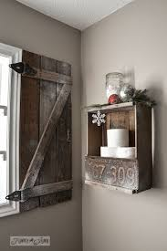 Barn Board Bathroom Vanity How To Build Your Own Barn Wood Shutterfunky Junk Interiors