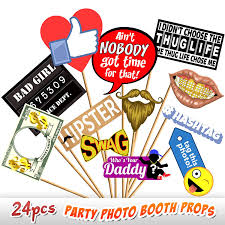 24pc photo booth props novelty dress up