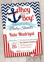 nautical design baby nautical baby shower invitations templates nautical baby shower