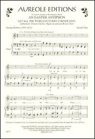 easter choral easter antiphon choral score