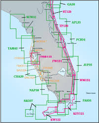 Panhandle Florida Map by Captain Segull Charts Florida Captain Segull U0027s