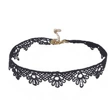 black chokers necklace images Generic black fabric lace choker necklace for girls amazon in jpg