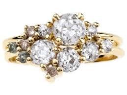 custom cluster v shaped ring bario neal home bario neal cluster ring ring and anniversary rings