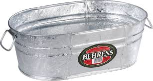 Oval Party Beverage Tub by Amazon Com Behrens 00 Ov 4 Gallon Oval Steel Tub Planters