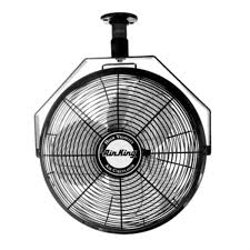 decorative wall mounted oscillating fans amazon com air king 9718 18 inch industrial grade ceiling mount