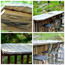 Diy Outdoor Wooden Table Top by Day 13 Use Leftover Decking To Create A Bar Top That U0027s Perfect