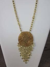 designer modeschmuck designer modeschmuck aus brasilien 1 halskette goldfärbig mit