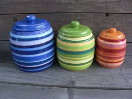 Vintage Kitchen Canister Sets 28 Colored Kitchen Canisters One Of A Kind Set Of 4 Rainbow