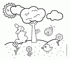 25 spring coloring pages for kids printable preschool house in