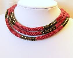 beaded necklace rope images 153 best crochet bead ropes images bead crochet jpg