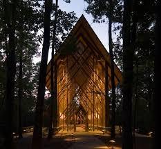 anthony chapel at garvan gardens in springs arkansas one of