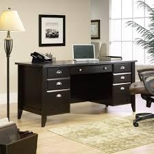 Wooden Office Desk by Shoal Creek Executive Office Desk 408920 Sauder