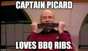 Meme Generator Picard - picard eating rib meme generator imgflip
