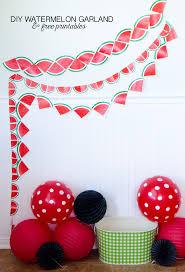 printable birthday decorations free diy watermelon decorations free printable garlands watermelon