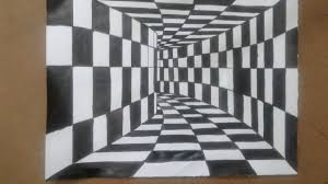 how to draw a 3d drawing 3d tunnel optical illusion simple