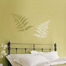 simple green tree wall murals in modern small bedroom design ideas