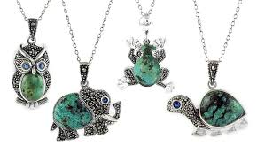 owl necklace pendants images Turquoise animal pendants groupon goods jpg