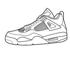 basketball shoes coloring page u0026 coloring book
