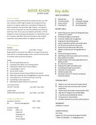 Resume Background Summary Examples by 10 Security Guard Resume Entry Level Resume Cover Letter For