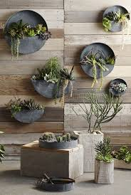circular framed planters add living art to your walls design