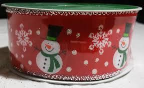 celebrate it red snowman ribbon michaels new wired edged 25 u0027 x 1 5