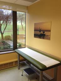 furniture office examination room at a doctors office stock