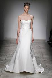 silk fit and flare wedding dress amsale amsale kendall silk fit flare wedding dress size 6