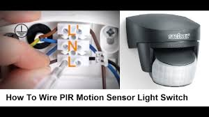 motion sensor for existing outdoor light how to wire pir motion sensor light switch youtube