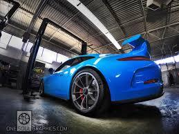 porsche blue gt3 2015 porsche 991 gt3 riviera blue wrap one soul graphics