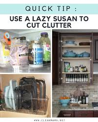 Lazy Susan Under Cabinet Quick Tip Use A Lazy Susan To Cut Clutter Clean Mama