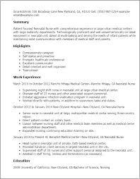 nursing resume exles for medical surgical unit in a hospital registered nurse resume exle new graduate sle shalomhouse us