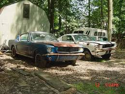 mustang restoration project for sale two 65 mustangs barn find abandoned forgotten deserted