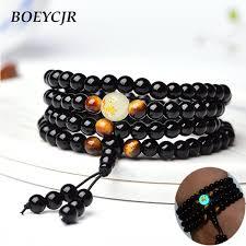 bracelet handmade jewelry images Boeycjr black buddha beads bangles bracelets handmade jewelry jpg