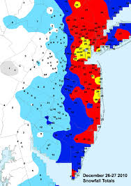 Snow Map Blizzard Snowfall Map Shows Spots In Monmouth And Ocean