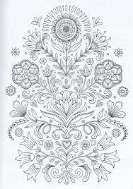 scandinavian coloring book pg 4 color pages stencils templates