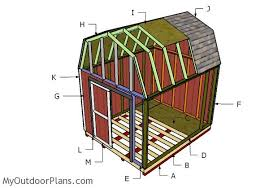 How To Build A 10x12 Shed Plans by 10x12 Gambrel Shed Roof Plans Myoutdoorplans Free Woodworking