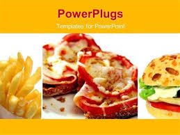 Fast Food Powerpoint Template Powerpoint Template Fast Food Theme Fast Food Ppt