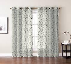 single 1 window curtain panels ivory beige textured sheer gray