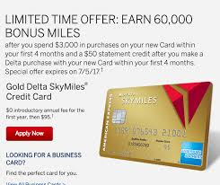 delta gold business card new 60k offer for the gold delta skymiles credit card from