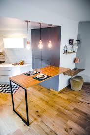 table cuisine chene mange debout sur mesure 3 en 1 table cuisine chêne appartement