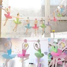 ballerina wedding party paper flags bunting banner for kids