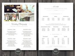 wedding planner pricing cursive q designs easy to customize 5 x 7 wedding photographer