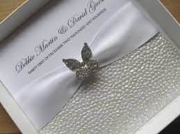 butterfly wedding invitations diamante butterfly wedding invitation with without box