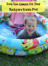 play outside five fun games for your backyard kiddie pool bare