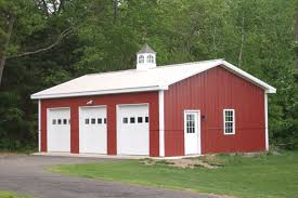 Pole Barn House Plans With Loft Modern White Off Exterior Wall Of The Pole Barn Garage Kits With