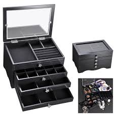 jewelry box 20 jewelry box ring necklace display storage organizer travel