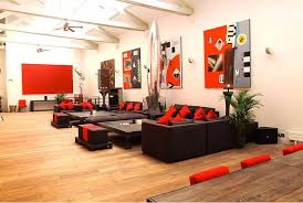 Black Sofa Pillows by Furniture Red Accent Loft Living Room Furniture With Black Sofa